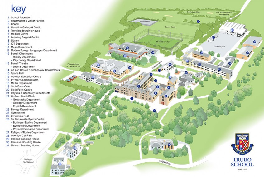 Truro Fencing Club Campus Map